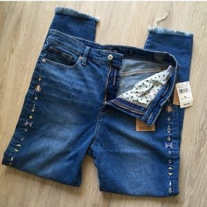 Lucky Brand Embroidered Jeans
